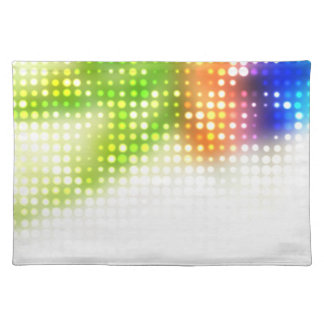 Funky Rainbow Dots Halftone Placemat