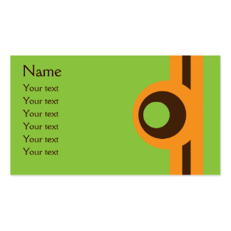 Funky Retro Green Orange & Brown Abstract Pack Of Standard Business Cards