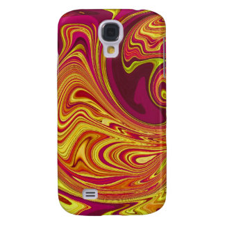 Funky Retro Orange Swirl Galaxy S4 Case
