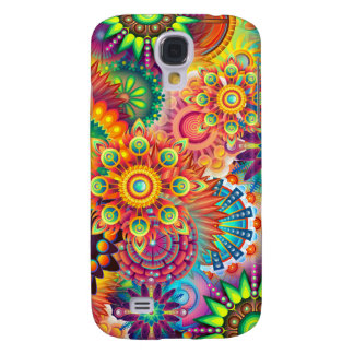 Funky Retro Pattern Abstract Bohemian Galaxy S4 Case