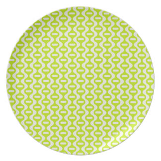 Funky Retro Pattern Party Plate