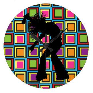 Funky Retro Singer Dancer Clock