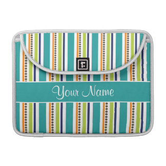 Funky Retro Stripes and Spots Sleeve For MacBooks