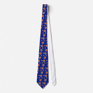 Funky Roses Blue Tie