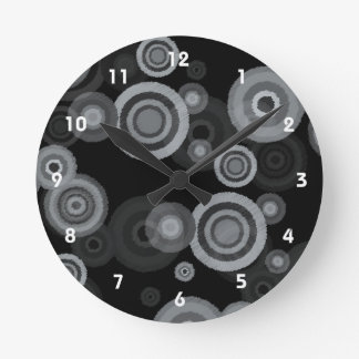 Funky Scribble Circles Clock