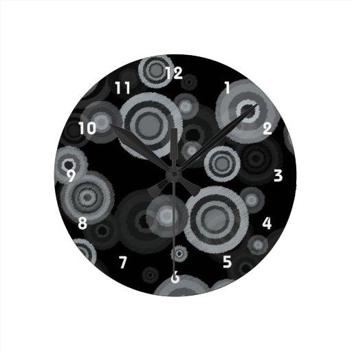 Funky Scribble Circles Wallclock