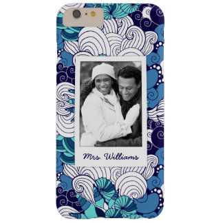 Funky Seashell Pattern | Your Photo & Name Barely There iPhone 6 Plus Case