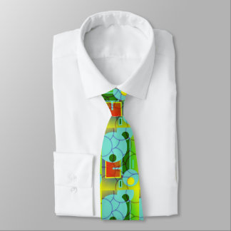 Funky Shapes and Scales Abstract Art Tie