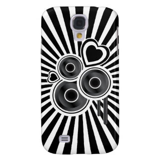 Funky Speakers & Hearts Abstract Galaxy S4 Case