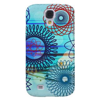 Funky Spirograph Geometric Pattern Blue Design Galaxy S4 Case