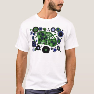 Funky Spotted Hippo Art Design T-Shirt
