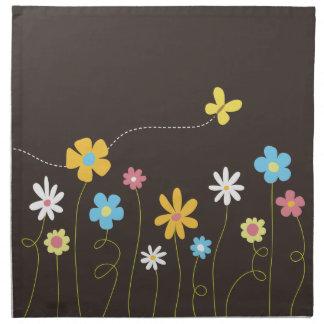 Funky Spring Flowers Napkin