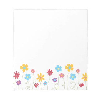 Funky Spring Flowers Notepad