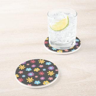 Funky Spring Flowers Pattern Coaster