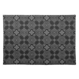 Funky Steampunk Metal Abstract Geometric Pattern Placemat