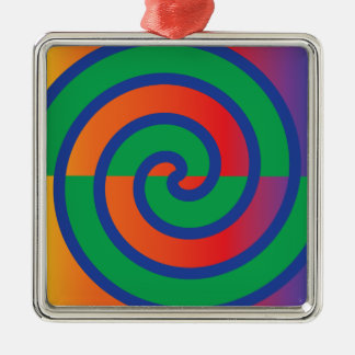 Funky Swirls Pattern Color Splash Christmas Ornament