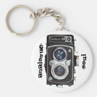 Funky TLR Keyring Analogue Soul Basic Round Button Key Ring