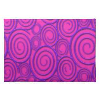 Funky Trendy Retro Abstract Pattern Placemat