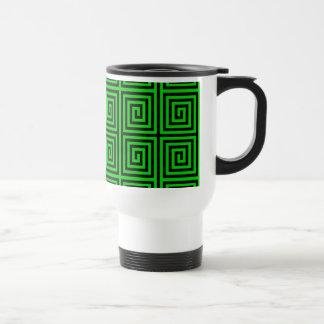 Funky Trendy Retro Abstract Pattern Travel Mug