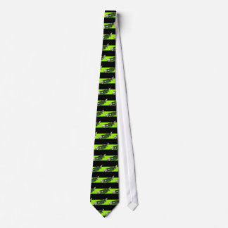 Funky Tropical Fish in Black and Green Tie