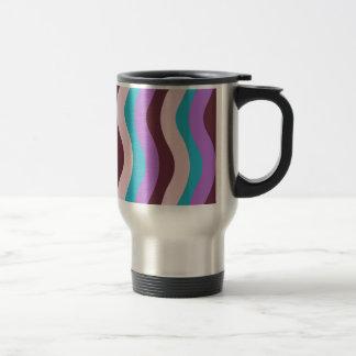 Funky Wave Stripes Travel Mug