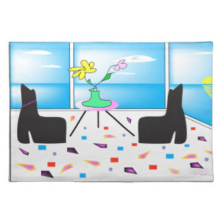 Funky Whimsical Colorful Miami, Graphic Placemat