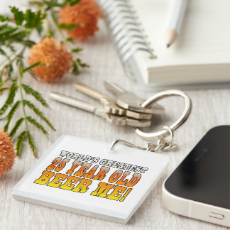Funny 25th Birthdays : Worlds Greatest 25 Year Old Single-Sided Square Acrylic Key Ring