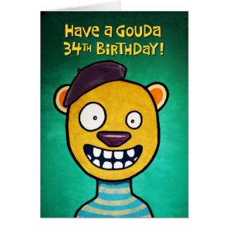 Funny 34th Birthday Card