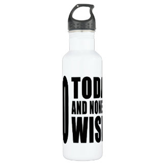 Funny 40th Birthdays : 40 Today and None the Wiser 710 Ml Water Bottle