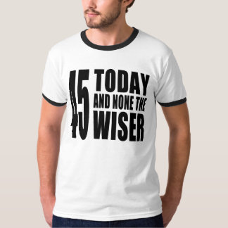 Funny 45th Birthdays : 45 Today and None the Wiser Tshirt