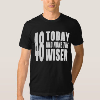 Funny 48th Birthdays : 48 Today and None the Wiser Tshirt