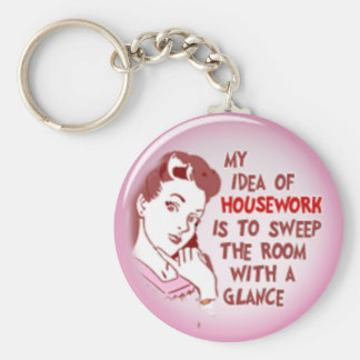 Funny 50's Woman My Idea Of Housework Key Chain