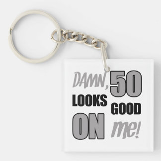 Funny 50th Birthday Gag Gift Key Ring