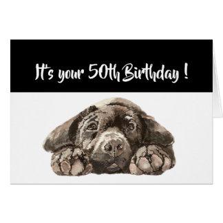 Funny 50th Birthday, Labrador Retriever Card