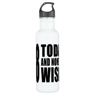 Funny 58th Birthdays : 58 Today and None the Wiser 710 Ml Water Bottle