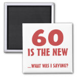 Funny 60th Birthday Gag Gifts Refrigerator Magnets
