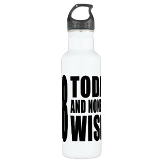 Funny 68th Birthdays : 68 Today and None the Wiser 710 Ml Water Bottle