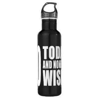Funny 70th Birthdays : 70 Today and None the Wiser 710 Ml Water Bottle
