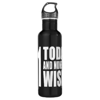 Funny 71th Birthdays : 71 Today and None the Wiser 710 Ml Water Bottle