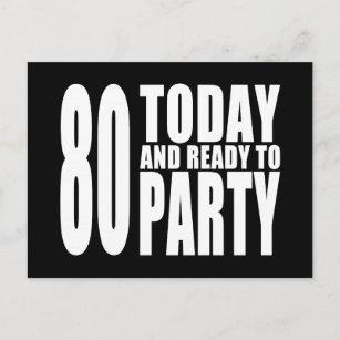 Funny 80th birthday invitations zazzle funny 80th birthdays 80 today and ready to party invitation postcard filmwisefo