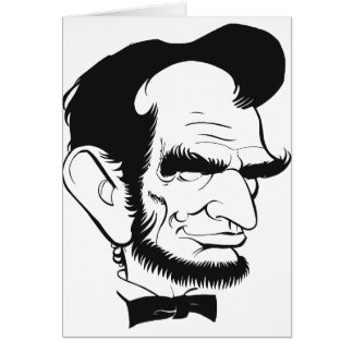 funny abraham lincoln caricature card