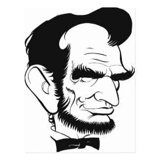 funny abraham lincoln caricature postcard