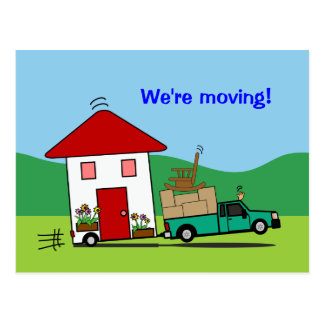 Funny Address Change We're Moving House Cards Postcard