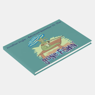 Funny Alligator Gone Fishing Guest Book