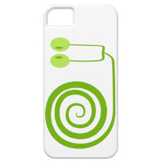 Funny and it cheers green snail with spiral iPhone 5 case