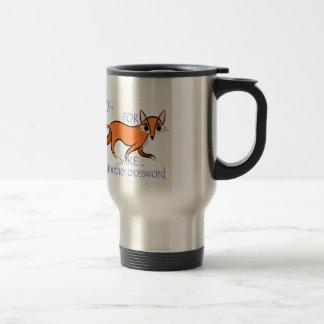 Funny and sassy fox crossword motivation quote travel mug