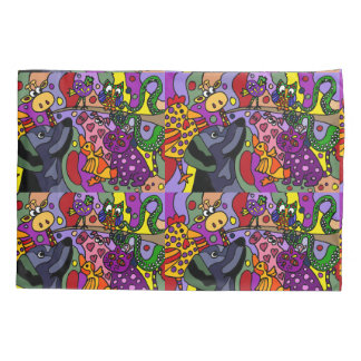 Funny Animals Abstract Pillowcase