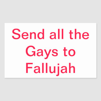 Funny anti gay rectangular sticker