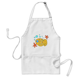 funny  baby  fish adult apron