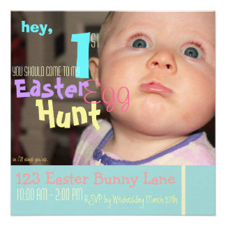 Funny Baby s First Easter Egg Hunt Invitation